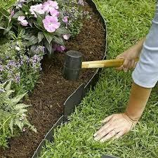 20 Pcs Garden Black Fence Edging Cobbled Plastic Lawn Edging Plant Border Decor Ebay