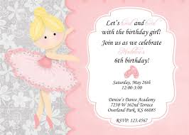 Ballerina Birthday Invitation Invitaciones Decoracion Fiesta Y