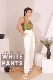 how to style your white pants codipop