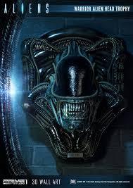 Alien Warrior Alien Head Trophy Aliens 3d Wall Art By Prime 1 Studio