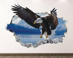 Eagle Wall Decal Etsy