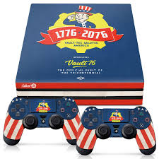 Officially Licensed Console Skin Bundle For Ps4 Pro Fallout 76 Tricentennial
