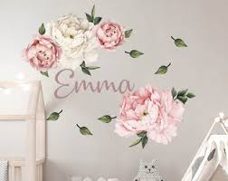 Girl Name Wall Decal Etsy