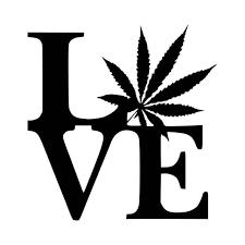 Love Marijuana Vinyl Decal Sticker