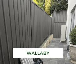 colorbond fence makeover wallaby