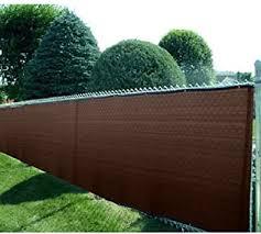 8 X 50 Heavy Duty Brown Fence Screen Mesh Tarp Amazon Com
