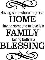 Amazon Com Home Family Blessing Wall Decal Is A Vinyl Wall Decal Displaying Having Somewhere To Go Is A Home Decal Black Home Kitchen