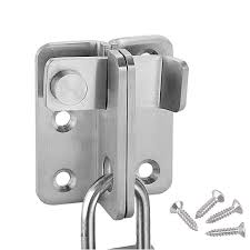 Gate Latch Lock With Padlock Hole Flip Door Lock Latch For Closet Bifold Fences Latch Lock Heavy Duty Shed Latch Lock For Outdoor Gate Hardware Warehouse Barn Stainless Steel Brushed Finish