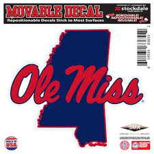 University Of Mississippi Car Decals Decal Sets Ole Miss Rebels Car Decal C Secstore Com