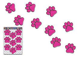 Amazon Com Jas Stickers Animal Paw Prints Car Decals Pink Pet Cat Dog Large Vinyl Stickers Pack For Laptop Luggage Bicycle Bike Caravans Van Camper Trucks Boats St002pk 3 Handmade