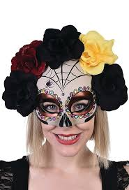 sugar skull flower masquerade mask