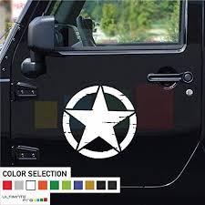 17 2x Stars Vinyl Decal Stiker Compatible With Jeep Wrangler Rubicon Mymonkeysticker Com