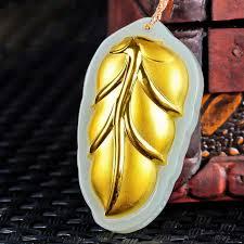 xinjiang hetian jade leaves pendant