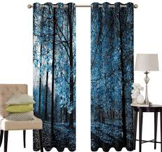 Amazon Com Aishare Store Dining Room Curtains Woodland Autumn Woodland Artful Blackout Curtains For Kids Room W97 X L97 Inch Kitchen Dining