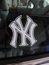 New York Yankees Car Window Sticker Decal Etsy