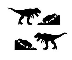Jurassic T Rex And Jeep Combo Pack Vinyl Decal For Windshield Etsy