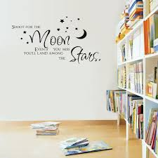 Wall Stickers Home Decor Vinyl Art Room Decals Diy Mural Moon And Stars Quotes