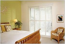 interior glass doors with blinds are
