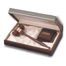 premium rosewood gavel gift set