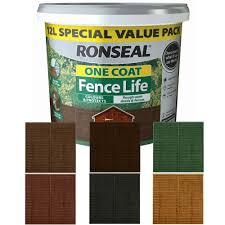 Ronseal One Coat Fence Life Fence Paint 12l