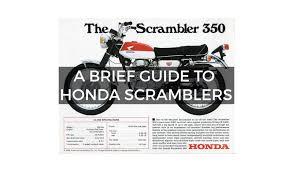 a brief guide to honda scramblers