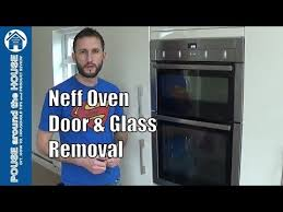 glass neff oven glass door removal