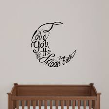 Sweetumswalldecals I Love You To The Moon And Back Wall Decal Wayfair