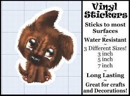 Puppy Vinyl Decal Vinyl Sticker Puppy Sticker Vinyl Etsy