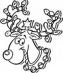 50 Cliparts Kleurplaat Kerstman Met Reindeer Clipart