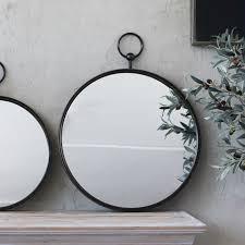 trouva large neville round mirror