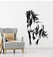 Vinyl Wall Decal Horse Silhouette Animal Mustang Gallop Stickers Mural Wallstickers4you