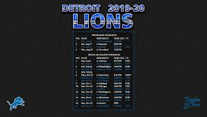 2019 2020 detroit lions wallpaper schedule