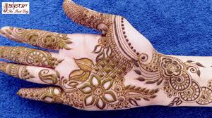 beautiful mehndi design for college girl
