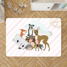 Woodland Animal Decor Kids Room Decor Forest Animals Personalized Rug 429 Eloquent Innovations