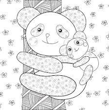 Panda Kind Kleurplaat Fotoboekpagina Clipart Afbeelding