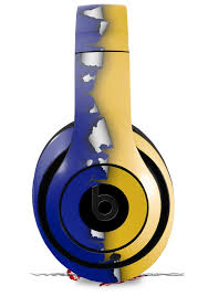 Beats Studio2 Studio3 Skins Ripped Colors Blue Yellow Wraptorskinz