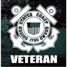 Us Coast Guard Veteran Car Window Decals Stickers Decal Junky