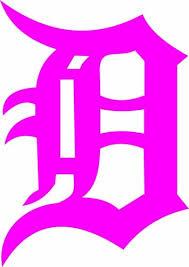 Auto Parts And Vehicles Detroit Tigers D Vinyl Decal Sticker Hot Pink 6 Car Truck Graphics Decals