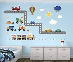 Amazon Com Pinkie Penguin City Transportation Wall Decal Room Boys Kids Decor Personalized Gift Vinyl Art Home Kitchen