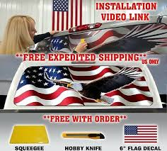 American Flag Eagle Pick Up Truck Rear Window Graphic Decal Perforated Vinyl Auto Parts And Vehicles Car Truck Graphics Decals Magenta Cl