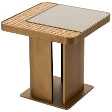 bronze or silver finish coffee table