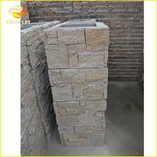 Stone Pillar Fence Fence Panel Stone Rusty Cement Slate Pillars Column Buy Roman Pillar Column Cheap Pillars Columns Plastic Roman Columns Product On Alibaba Com