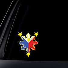 Philippine Flag Sun Car Decal Stickers Wish