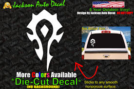 Horde Wow World Of Warcraft Video Game Vinyl Decal Sticker Red For Sale Online Ebay