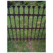 Ca 1865 Wrought Iron Fencing With Fan Finials Anderson King Ltd Ruby Lane