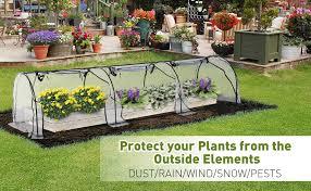 greenhouses outsunny transpa pvc