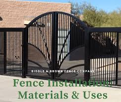 Fence Installation Materials Uses Biddle Brown Fence Company