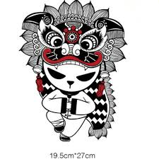T Shirt Women Pvc Patch Lion Dance Panda Biker Patches For Clothing Heat Transfer Printing Clothes For Stickers Free Shipping Patches Aliexpress
