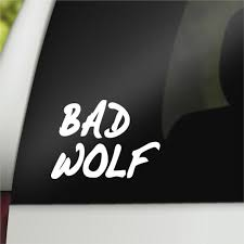 Who Rose Tyler Geek Car Decal Bad Wolf Etsy