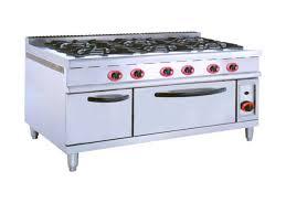 Bếp âu 6 họng có lò nướng thiết bị cho khu bếp ăn công nghiệp